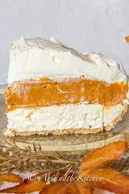 no bake triple layer pumpkin pie art