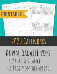 2020 monthly planner template 2020 monthly calendars year at a glance skinny handwriting