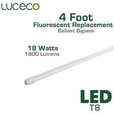 T8 Fluorescent Lumens Chart 18 Watt Led Ballast Bypass T8 Fluorescent Replacement Tube