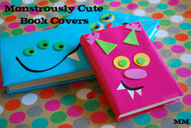 mirandamade monstrously cute book covers