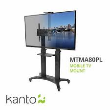 tv mount. kanto mtma80pl mobile tv mount with adjustable shelf for 55-in to 80-in tv