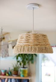diy woven rope pendant lamp