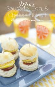 mini sausage egg cheese biscuit appetizer recipe partiesforpennies recipe breakfast
