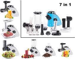 7 in 1 Kitchen/Multido Food Processor Meat Mincer Slow Juicer/Blender  Smoothie Maker Electric Coffee ühle Vegetable Grater, blue: Amazon.de:  Küche & Haushalt
