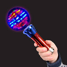 Light Wand Toy Playlearn Sensory Light Up Spinning Ball Wand Toy Glowing Led Rave Toy Stick Flashing Wizard Ball Sen Autism Adhd