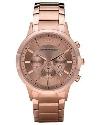 armani ar2452 mens rose gold chronograph watch emporio armani ar2452 mens rose gold chronograph watch