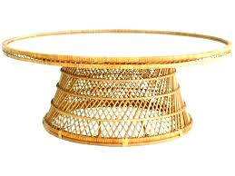round rattan coffee table wicker conservatory accessories tables with glass top or