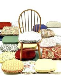 kitchen chair pads cushions with ties throughout cool dining room idea 2