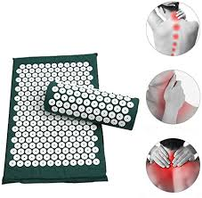 Anself <b>Acupressure Mat</b> and <b>Pillow</b> Set for Relaxation and Pain Relief