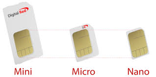 The sim (= subscriber identity module) card identifies the user in the network. Mobile Phone Sim Card Sizes Digital Red