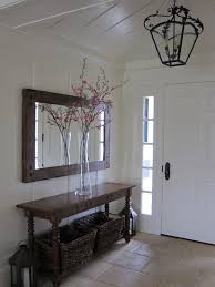 entryway table and mirror. View In Gallery Entryway With A Long Dark Table And Matching Mirror