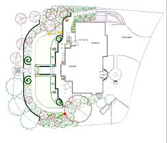 french garden plan at back