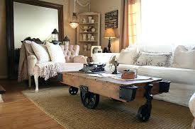 coffee table with wheels and storage reclaimed factory cart turned into a fabulous coffee table with industrial style from the coffee table storage wheels