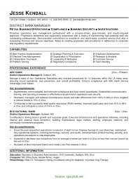 Fresh Retail Banking Branch Manager Resume Bank Manager Resume
