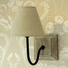 beige linen cottage wall light