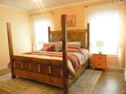 Slatted Four Post Farmhouse Bed - KING | Ana White