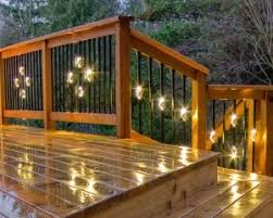 Deck lighting Boat Illuminations Baluster Lighting Jw Lumber Deck Lighting Outdoor Deck Lighting Products Low Voltage Led