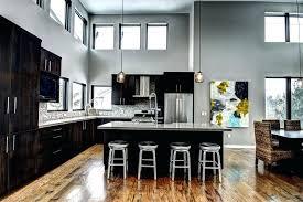 grey kitchen cabinets and backsplash