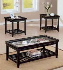 interesting glass table sets for living room and living room modern coffee table with dark purple