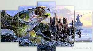 canvas paintings printed largemouth bass fishing wall art canvas pictures for living room bedroom home decor