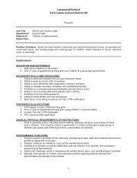 Sample Resume For Infant Teacher Augustais