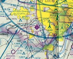 St Louis Sectional Chart Abandoned Little Known Airfields Southeastern Missouri
