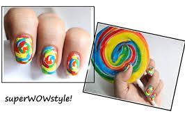 Candy Swirls! ❤ Kids Nail Art ❤ Cute Nail Designs - YouTube