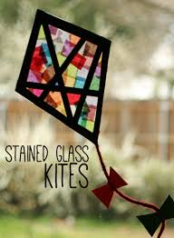 how to make colorful stained glass kites