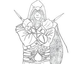 Assassins Creed Coloring Pages For Assassins Creed Coloring Pages