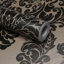 Contact Paper Decorative Designs Self Adhesive Contact Paper Black Damask Wallpaper Decorative Cover 84