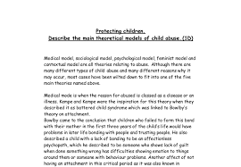 describe the main theoretical models of child abuse a level document image preview