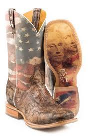 Tin Haul Mens Land Of The Free Cowboy Boot