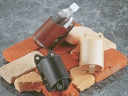 calf and calf leather bottle holder calf 024