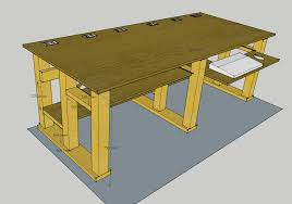 plans to build a computer desk full size