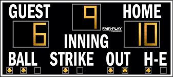 ba 7109 2 fair play scoreboards ba 7109 2 baseball scoreboard