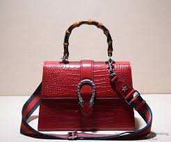 gucci bags new. gucci bamboo croco leather top handle bag 409828 bags new y