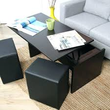 engaging coffee table with stools underneath s upholstered coffee table