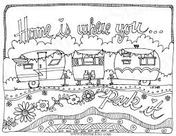 Small Picture Instant Download Whimsical Travel Trailer Adult Printable