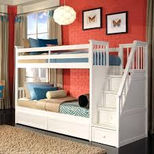 Girls Bunk Bed Sets White Stair Twin Bunk American Girl Doll Loft ...