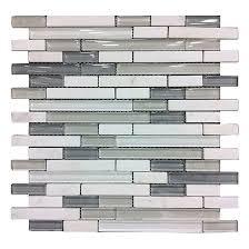 glass stone wall tiles artic mosaic 6 box