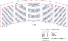 Regent University Theater Seating Chart Hill Auditorium U M School Of Music Theatre Dance
