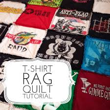T-shirt Rag Quilt Tutorial | Quilting in the Rain & I wanted to share with you all a t-shirt quilt that I made as my husband's  Christmas gift. I used all of his old punk rock t-shirts that he had saved  over ... Adamdwight.com