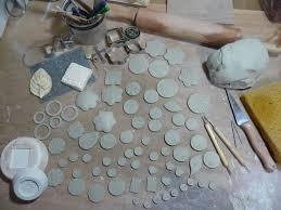 making clay pendants earrings ons