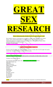 Science of sex step by step great research