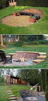 brick stone retaining wall with curved shape is a unique way to define a cozy outdoor seating area