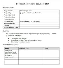 requirements document template business requirements document template pdf professional samples