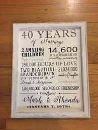 40th wedding anniversary gift reverse canvas gift for pas