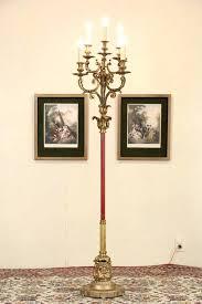 candelabra floor lamp glamorous sold bronze 6 candle antique harp gallery crystal alluring tucker flo