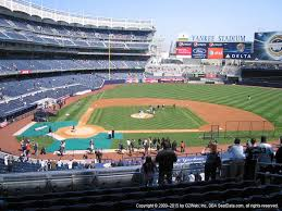 Yankee Stadium Seating Chart Pinstripe Bowl Yankee Stadium View From Main Dugout 217 Vivid Seats
