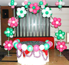 Decorating With Balloons Building Up The Balloon Columm Catalog Party Decorations By